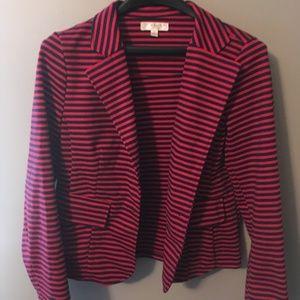 Kenar Medium M Red and black striped blazer